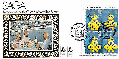 BENHAM BLCS52 FIRST DAY COVER-QUEEN`S AWARDS-BLOCK OF 4 x 37p STAMPS-LTD TO 50)