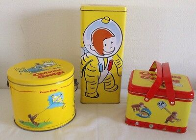 Lot Of (3) Curious George Tins