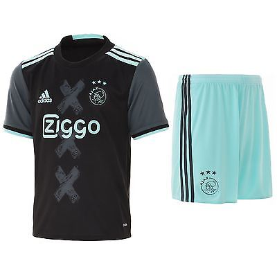 adidas Enfants Football Ajax Extérieur Ensemble Mini Maillot T-Shirt Short 16-17