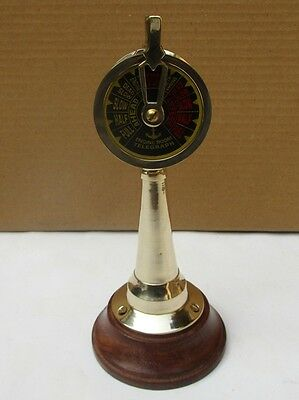 "Nautical Ship's Engine Telegraph 6"" Nautical Brass Finish Decorative Item"