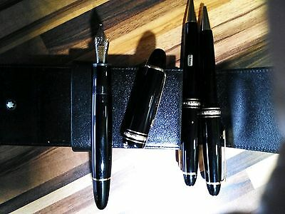 A complete set Mont Blanc 'Le Grand' Meisterstuck in leather.case VGC.