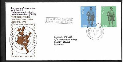 1974        FDC      EUROPA        Irish Times