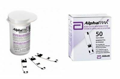 Alphatrak 2 Vet Pet Cat Dog Blood Glucose Test Strips Pack 50 Brand New