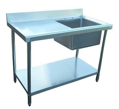 New Commercial Catering Kitchen Stainless Steel Sink 100cm Single 3.3ft