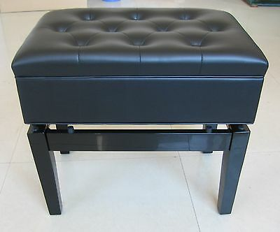 Little & Lampert Music Storage Adjustable Piano Stool Black