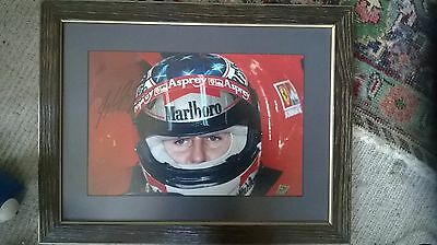 Michael Schumacher signed Photo with COA, professionally framed