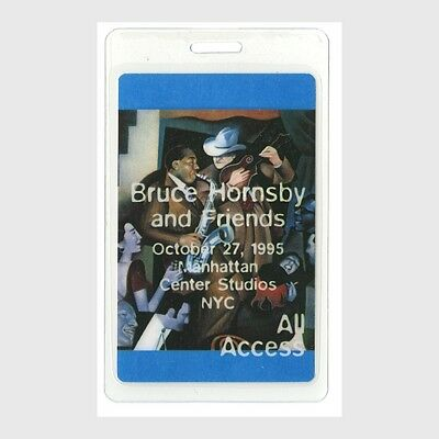 Bruce Hornsby authentic 1995 concert tour Laminated Backstage Pass