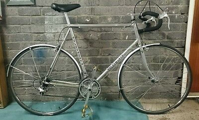 Classic racer silver touring road bike, Working Project, Normandy