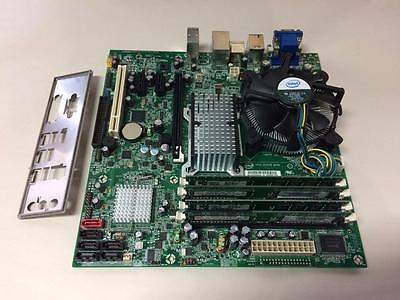 Intel Dq35Joe Motherboard W/ E8400 3.0Ghz + 4Gb Ram + Heatsink & I/o Plate