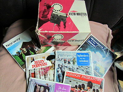 """Sawyers Vintage View Master Viewer. Model """"F"""" Fully Working With Light + Slides"""