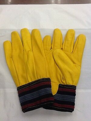 Leather Work Gloves, Faux Fur Lined, Large - Pack Of 5 Pairs - Free Uk Postage