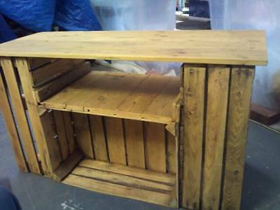 Large Reclaimed Rustic Solid Wooden TV unit Coffee Table Sideboard