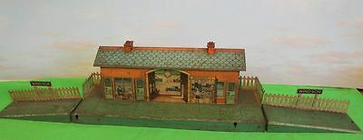 Hornby O Gauge Windsor Station No 2 Pre War 1930's With Ramps And Fences