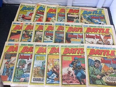 Job Lot - 61 Issues Of Battle Action Comic From 1980 And 1981 - Good-Very Good