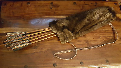 quiver with eager beaver - 16 arrow - forged arrowhead