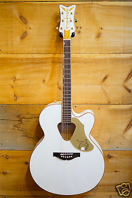 Gretsch Guitars G5022 White Falcon Jumbo Acoustic Electric Fishman White NEW