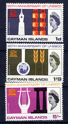 Cayman Islands set of 3 to 5/- mint never hinged