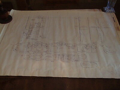 LOT of 2 Vintage Original Blueprints Kellogg Center Battle Creek, MI (Power) F