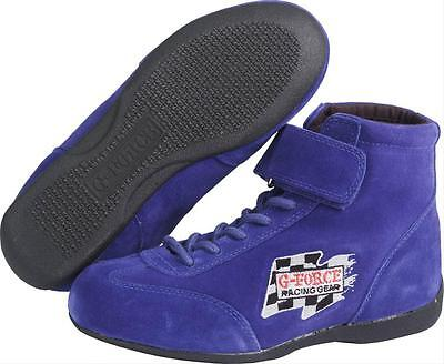 G-FORCE Racing Driving Shoes Race Grip Mid-Top Blue Men's Size 8 1/2 Pair