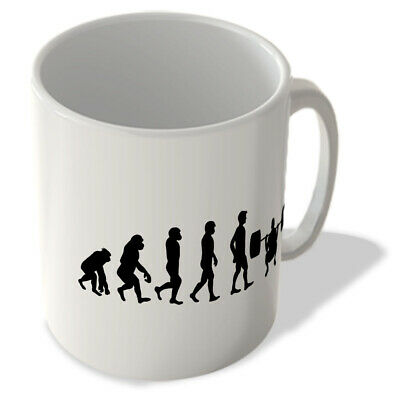MUG_EVO_031 Evolution of Man - Weight Lifting/Gym - Single Mug