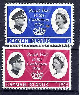Cayman Islands set of 2  Royal Visit 1966 mint never hinged