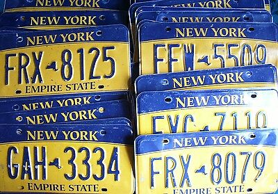 NEW YORK rough condition AMERICAN LICENSE PLATE various plates to choose from #2