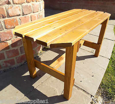 Garden Coffee Table - Wooden Outdoor Side Table