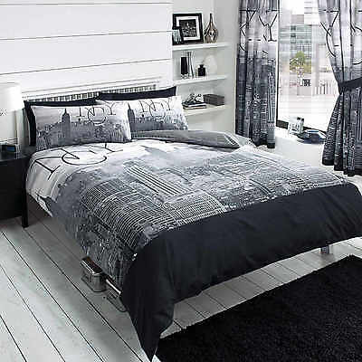 New York City Skyline Duvet Cover Quilt Cover Set Single Double King By GC