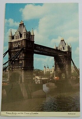 """Post Card     """" Tower Bridge And The Tower Of London """""""