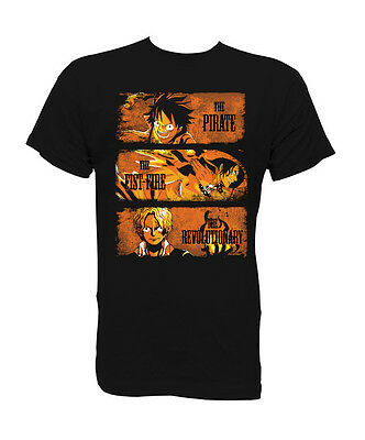 Camiseta t-shirt 3 Hermano One piece Luffy Ace Sabo XS-S-M-L-XL