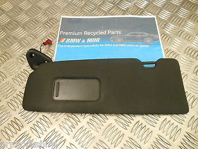 Bmw 1-Series E87 5 Door Ns Passenger Left Side Sun Visor With Mirror Black