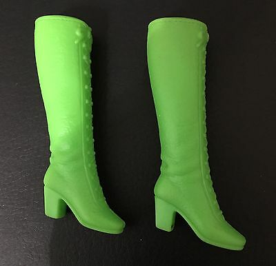Vintage Mod Francie Barbie Green Groovin' Gouchos Lace Up Squishy Boots Japan