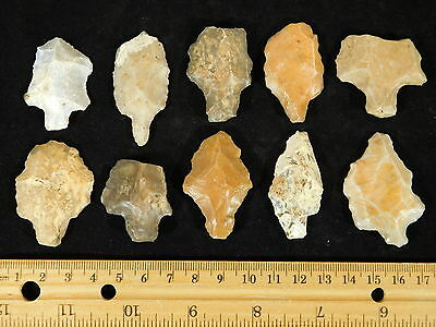 A BIG! Lot of 55,000 to 12,000 Year Old Aterian Stemmed Artifacts Algeria 94.1gr