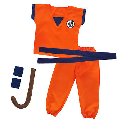 Dragon Ball Son Goku Kostüm Costume Dragonball Kinder Trainingsanzug Cosplay