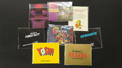 25 NES Manual And Insert Bags!  Protect Your Contents Too!  Nintendo CIB Sleeves