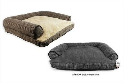 Pet Sofa Dog Large Bed Comfy Soft Luxury Anti Slip Tweed Quality Durable