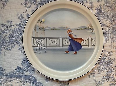 Villeroy & Boch The Romantic Scenes plate.  Number 4 Winter. Sabine Chenniviere