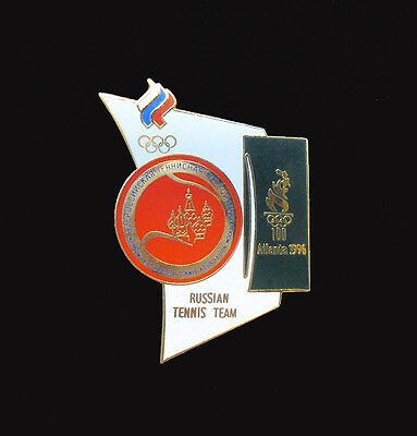 Russian TennisTeam Badge Pin - Tennis Events - Atlanta Summer Olympics