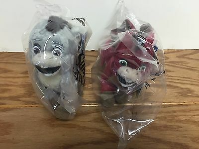 SHREK the THIRD DRONKEY Movie Promotional Plush Doll Set ~ Both Pink & Gray