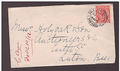 GB Great Britain 1912 King George V Cover 1d. scarlet used