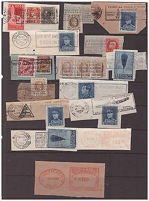 Belgium 1932-1984 selection of postmarks used stamps