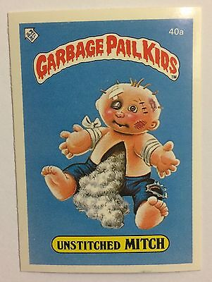 Unstitched Mitch 40a Garbage Pail Kids (1985)UK 1st Series Sticker/Vintage/Topps