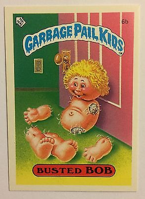 Busted Bob 6b Garbage Pail Kids (1985)UK 1st Series Sticker/Vintage/Topps