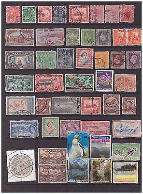 New Zealand selection of used  stamps  2 scans