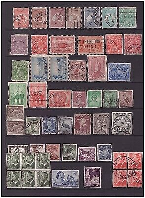 Australia selection of used  stamps