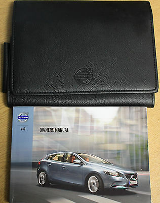 Volvo V40 Handbook Owners Manual And Wallet 2012-2014 Pack 13103