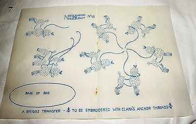 vintage embroidery iron on transfer, hand sewing, needlepoint (A7)