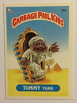 Tommy Tomb 36b Garbage Pail Kids (1985)UK 1st Series Sticker/Vintage/Topps