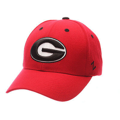 Zephyr Men's Georgia Bulldogs Competitor Zwool Adjustable Hat Red