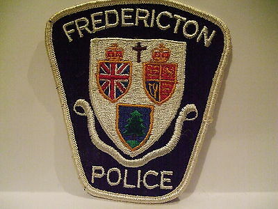 police patch  FREDERICTON POLICE NEW BRUNSWICK  CANADA